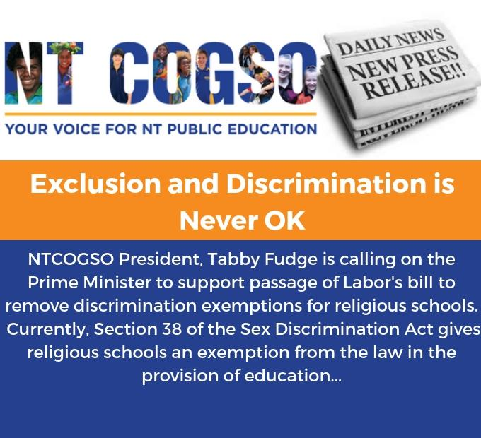 Exclusion and Discrimination is Never OK