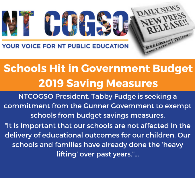 Schools Hit in Government Budget 2019 Saving Measures
